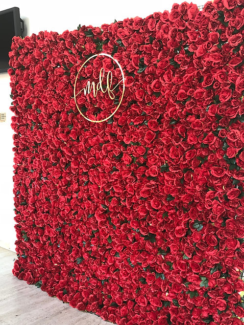 Royal Red Flower Wall