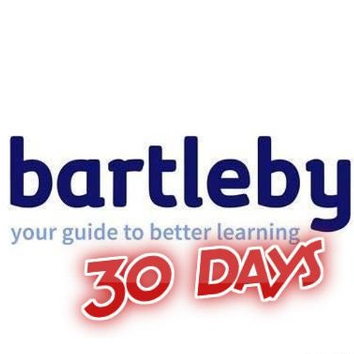 Bartleby function account 30 days