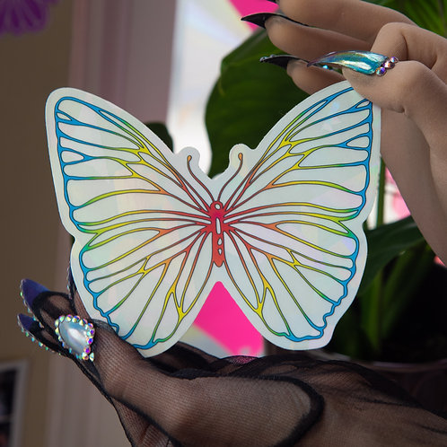 California Butterfly Baby Decal