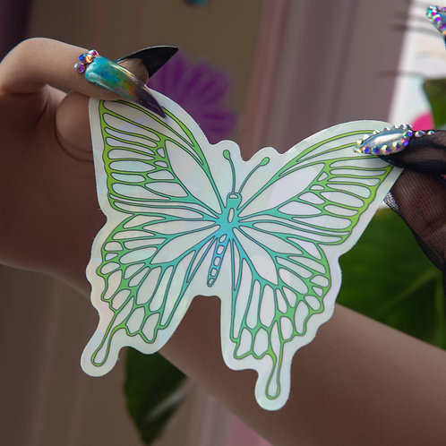 Green Thumb Butterfly Baby Decal