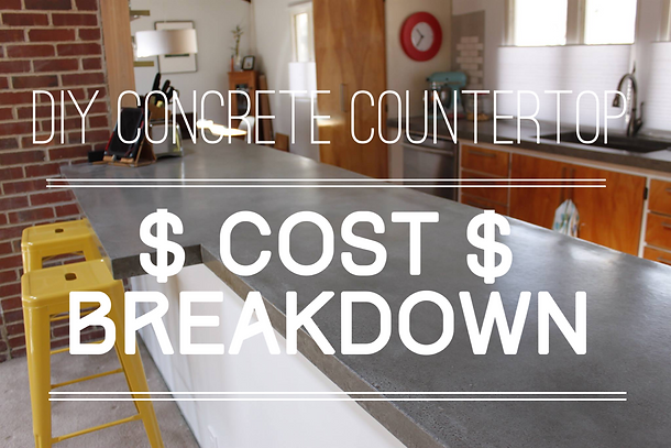 Cost Breakdown: DIY Concrete Countertop