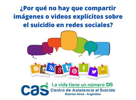 ¿Por qué no hay que compartir videos explícitos sobre suicidio en redes sociales?