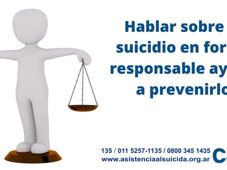 ¿Por qué escribimos sobre prevención del suicidio?