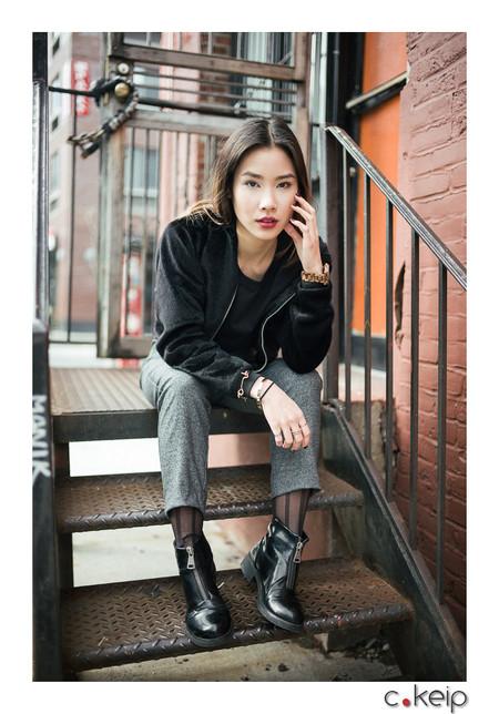NYC - April 2017 Lightning & Photographer: Christophe Keip Model: Alyssa