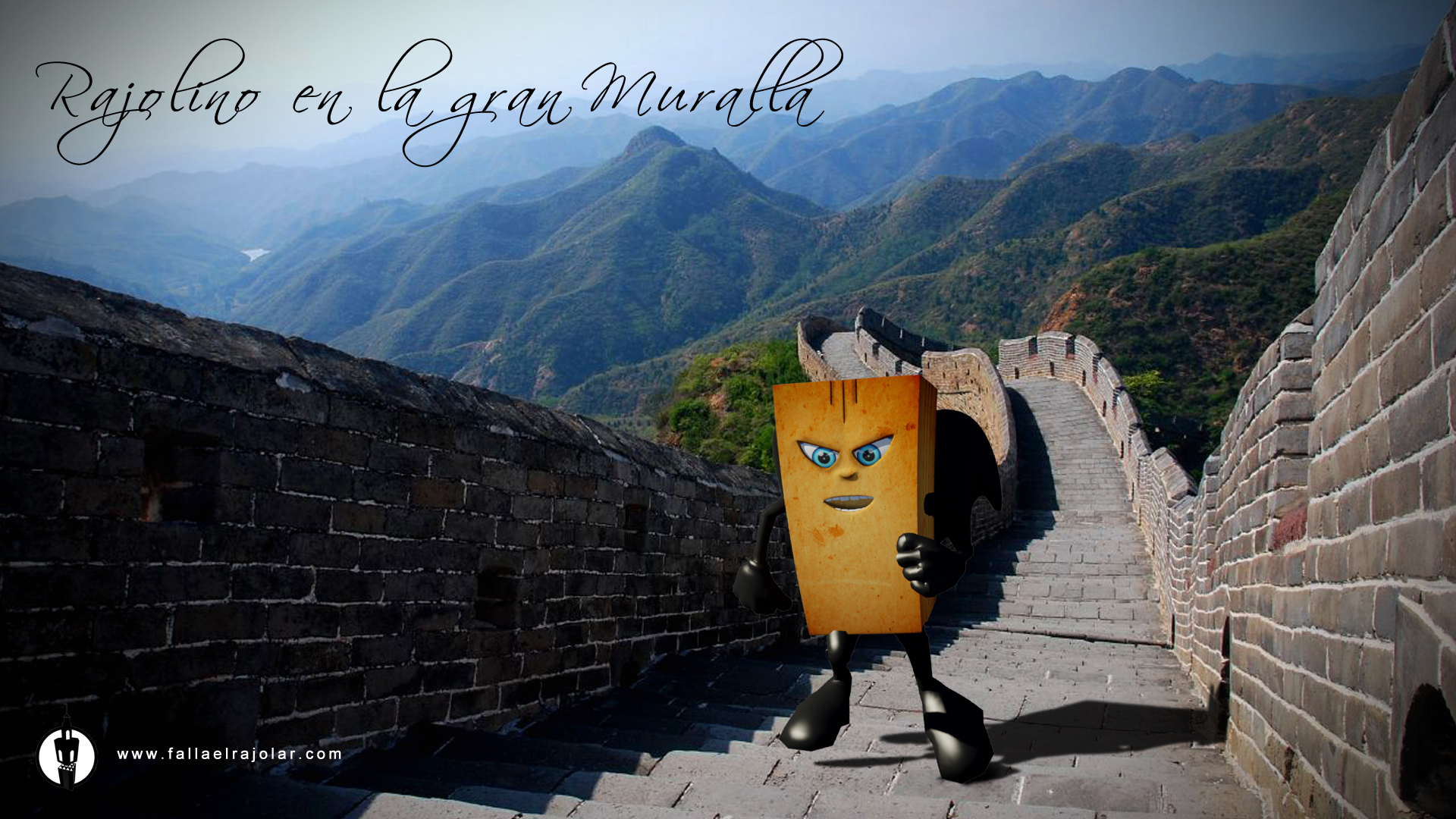Rajolino on the Great Wall of China