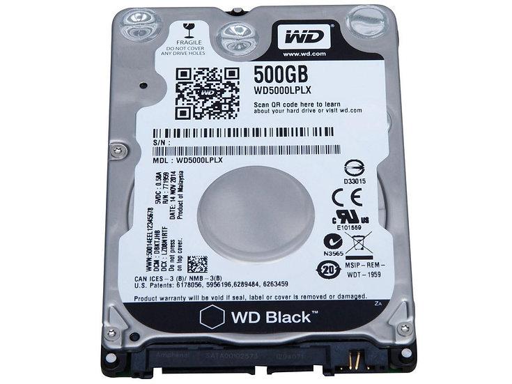 """Western Digital WD 2.5"""" Internal HDD 500 GB (Black)"""