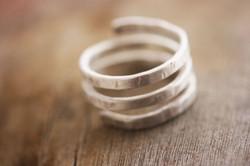 Silver Matte Ring