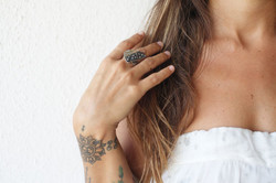 Silver Modern Texture Ring