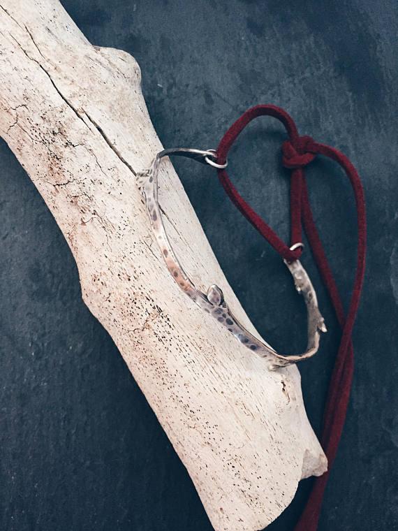 Silver Twig Bracelet