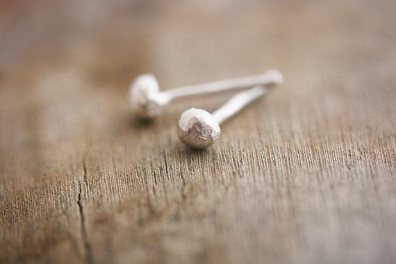 Silver Dot Earring