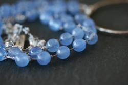 Blue Agate Charm Necklace