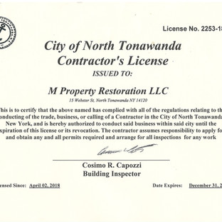 North Tonawanda Licenced Contractor