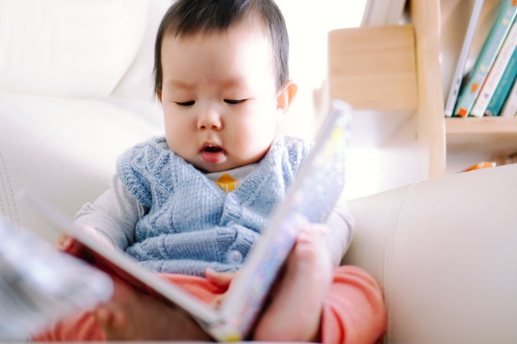 baby reading baby first year calender