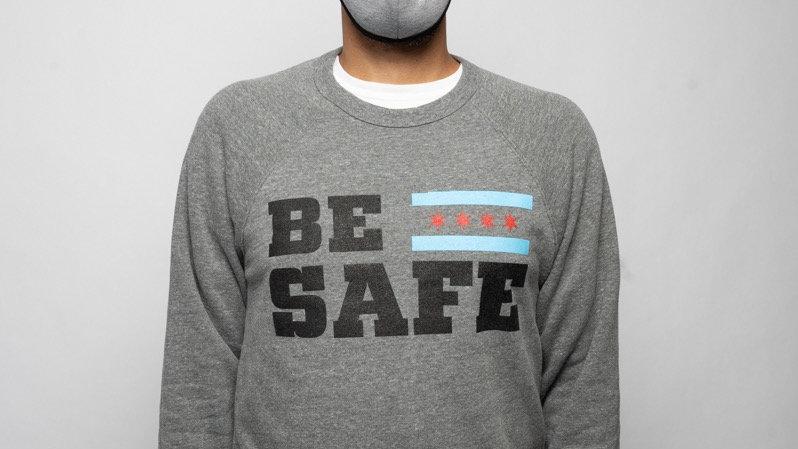 Gray Be Safe Crewneck