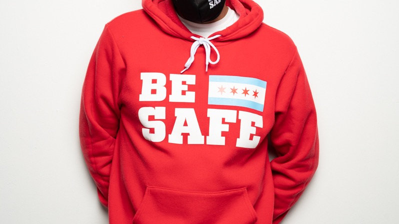 Red Be Safe Hoodie
