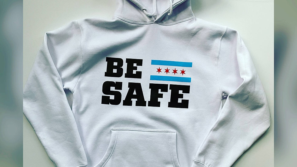 Be Safe Hoodie ( White )