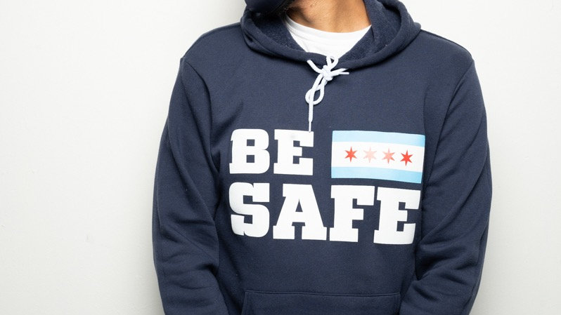 Navy Be Safe Hoodie