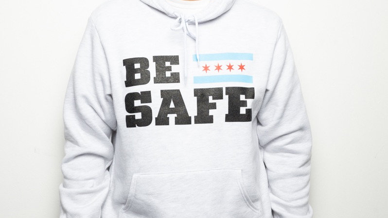 Ash Gray Be Safe Hoodie