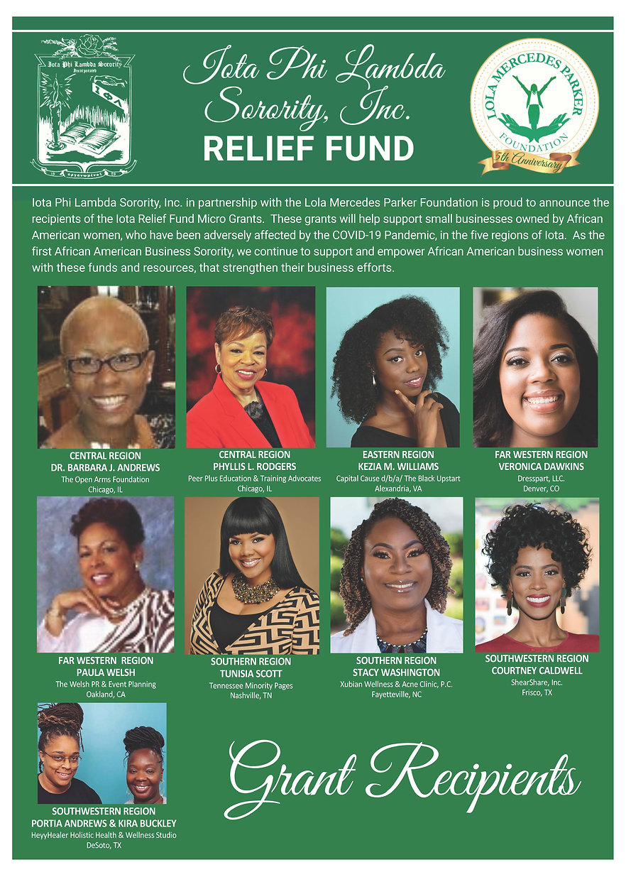Relief Fund Grant Winner Announcement (3
