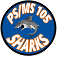 PS/MS 105Q Shark Logo.