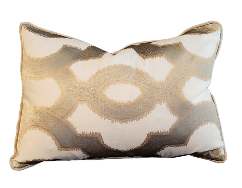 Gold & Taupe Medallion Pillow