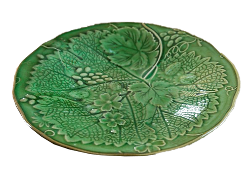 Glazed Garden Leaf & Berry Plate