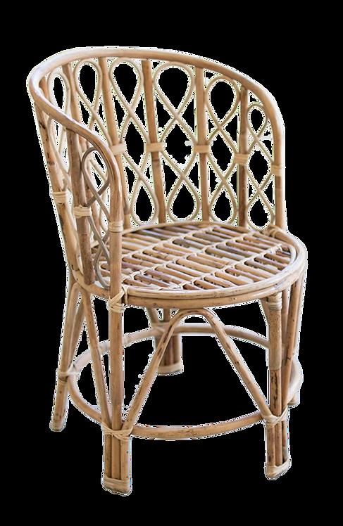 Barrel Shaped Bamboo Chair