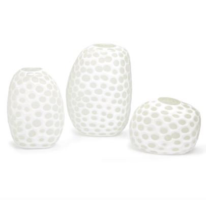 Imprints Hand Blown Etched Glass Vase