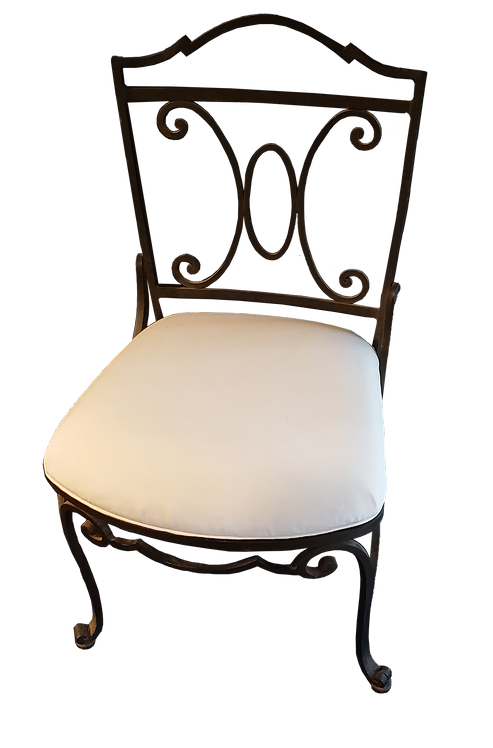 Pair of Phillip Simmons Wrought Iron Chairs
