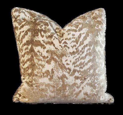 Bronze & Gold Chenille Tiger Pillow
