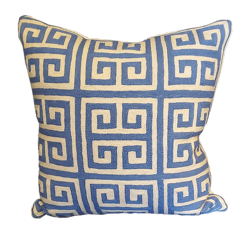 Givenchy Blue Hand Embroidered Pillow