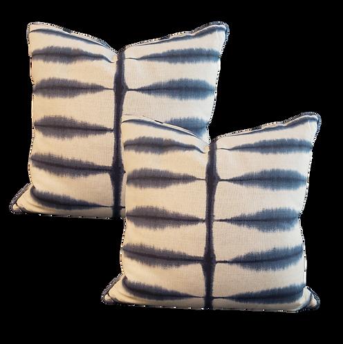Indigo Tie Dyed Pillow - Pair