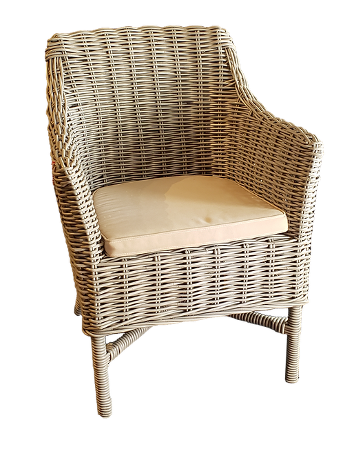 Roland Outdoor Woven Chairs, Set of 4