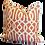 Thumbnail: Rust & Ivory Fretwork Pillow - Pair