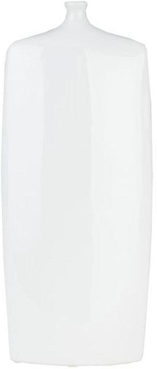 Flat White Vase