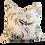 Thumbnail: Blue & Khaki Leaf Print Pillow - Pair