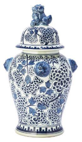 Peony Flower Temple Jar
