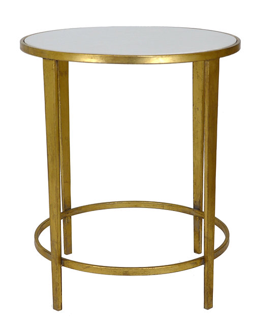 White & Gold Side Table