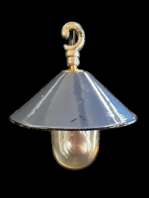 Vintage Blue Enamel Pendant