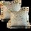Thumbnail: Aqua & Taupe Fortuny Print Pillow - Pair