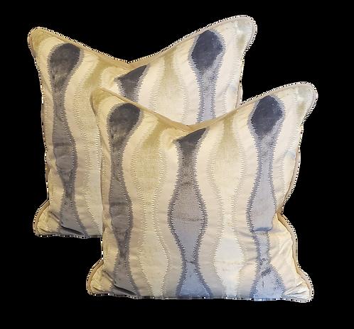 Gray & Ivory Tribal Stripe Pillow