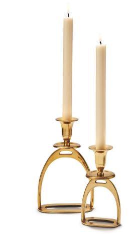 Gold Stirrup Candle Holder