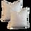 Thumbnail: Pale Blue & Ivory Diamond Weave Pillow - Pair