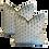 Thumbnail: Adriatic Blue Byzantine Cut Velvet Pillow - Pair