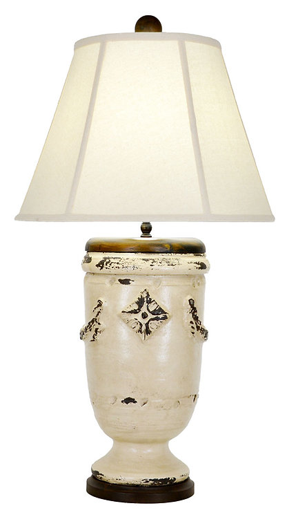 Taupe Pottery Lamp