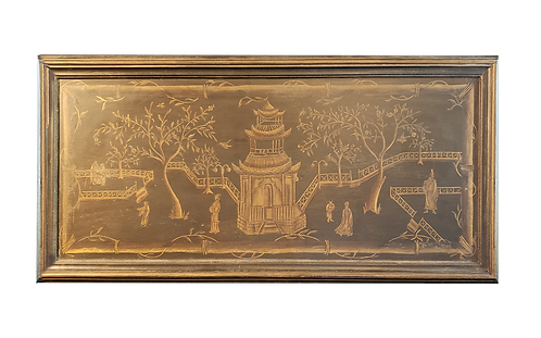Chinoisserie Black & Gold Wall Panel