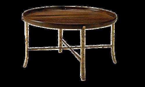 Round Mango Wood Tray Table