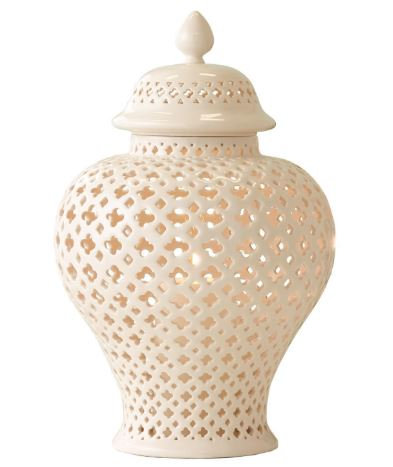 White Pierced Carthage Jar