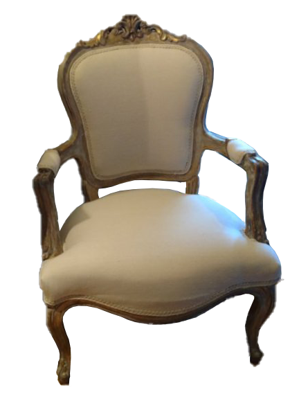 Vintage French Fauteuil Chair