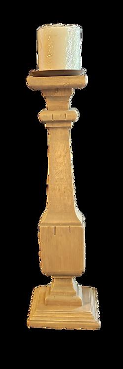 Wooden Pillar Candlestick